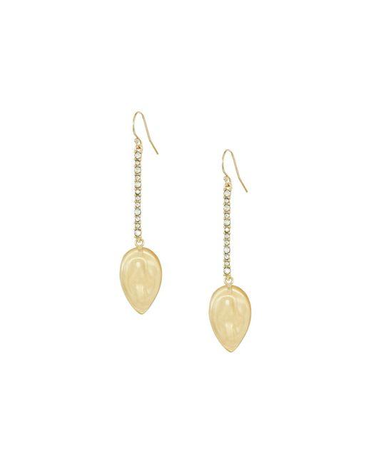 Alexis Bittar | Metallic Crystal Encrusted Liquid Silk Drop Earrings | Lyst