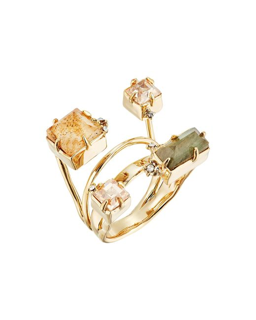 Alexis Bittar | Metallic Geometric Multi Stone Ring With Satellite Crystal Detail | Lyst