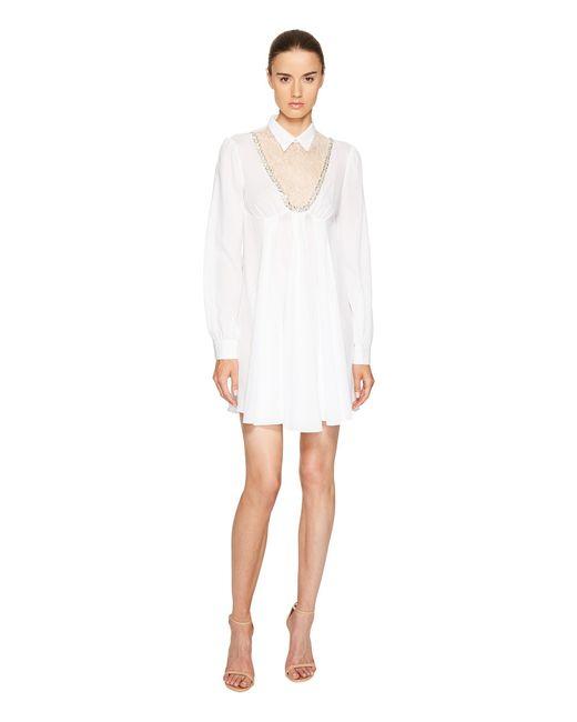 Francesco Scognamiglio | White Long Sleeve Collared Dress | Lyst