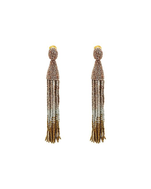 Oscar de la Renta | Multicolor Long Ombre Beaded Tassel C Earrings | Lyst