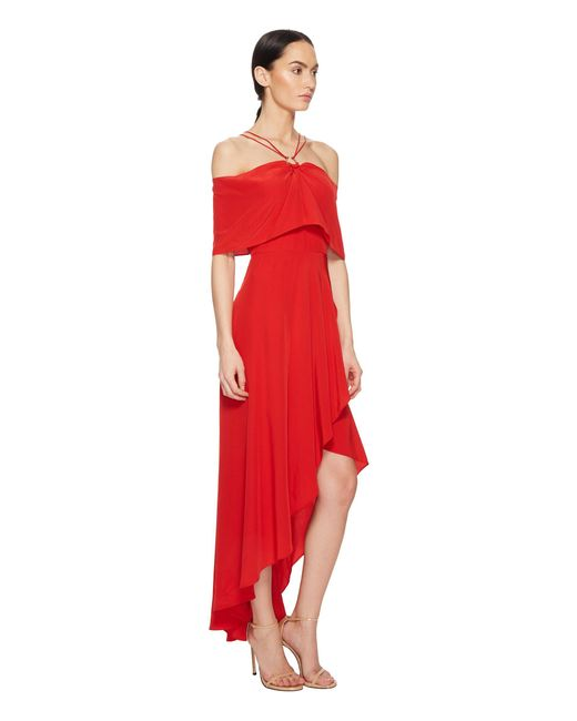 Yigal azrouel red maxi dress