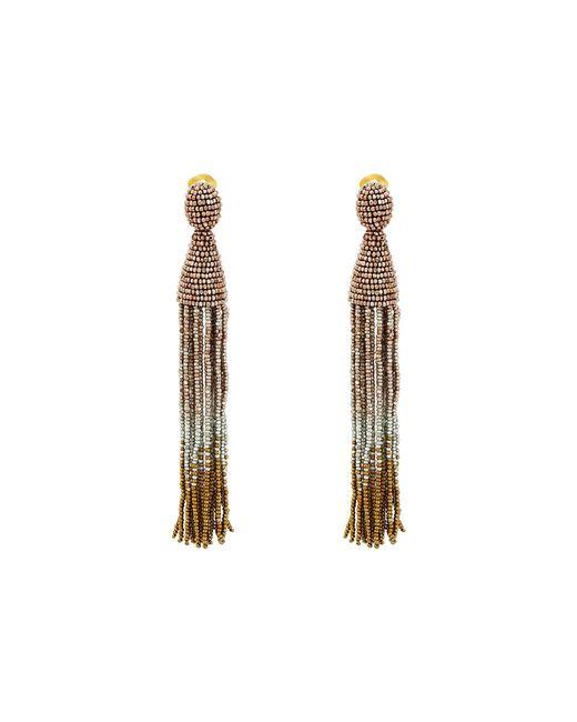 Oscar de la Renta | Multicolor Long Ombre Beaded Tassel C Earrings | Lyst