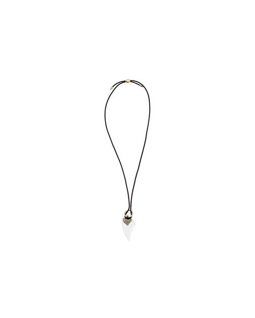 Alexis Bittar | Metallic Crystal Encrusted Abstract Petal Pendant With Adjustable Slide Closure Necklace | Lyst
