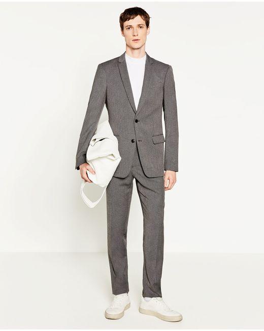 Zara | Gray Suit Trousers for Men | Lyst