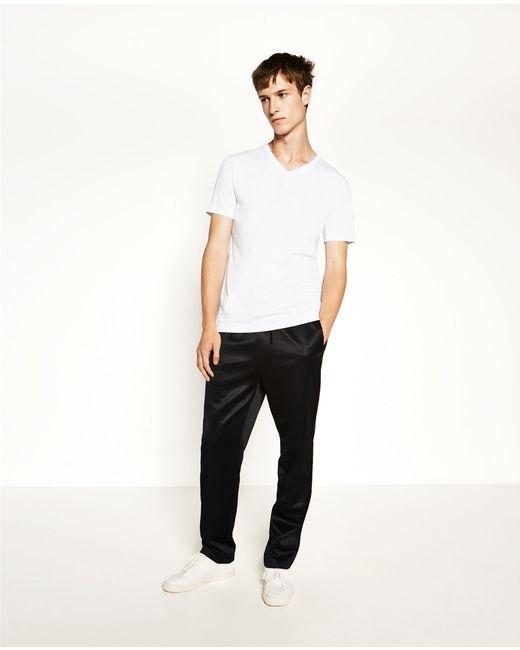 Zara | White Relaxed Fit T-shirt #joinlife for Men | Lyst