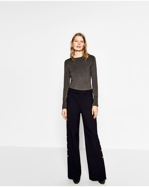 Zara | Gray Basic Sweater | Lyst