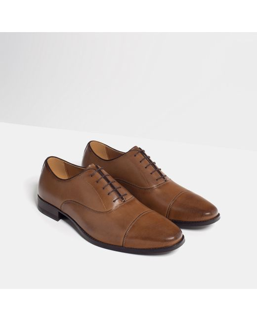 New Zara Oxford Shoes In Blue For Men Navy Blue  Lyst