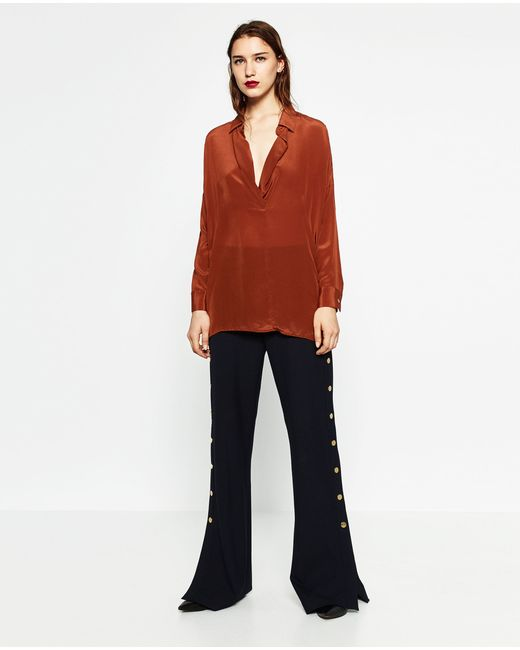 Zara Uk Silk Blouse 9