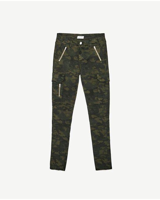 Fantastic Zara Skinny Jeans In Khaki Camouflage Zara 7990
