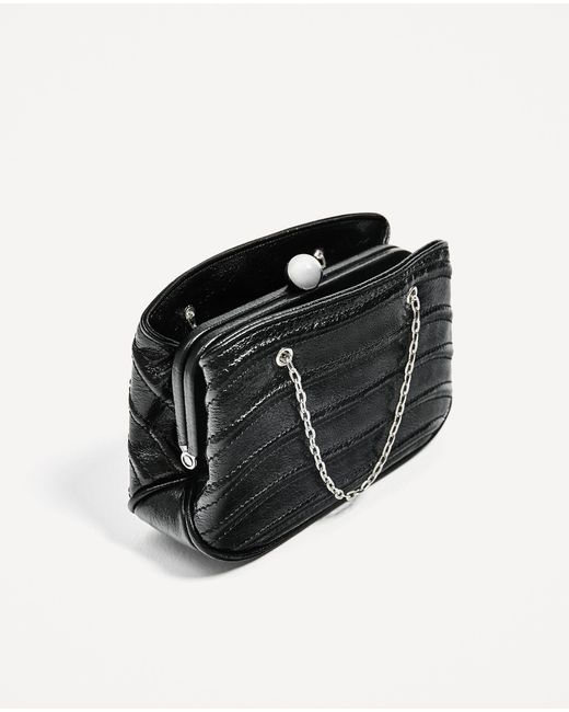Zara Mini Crossbody Bag With Chain In Black | Lyst