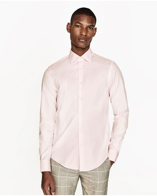 zara egyptian cotton shirt for men lyst