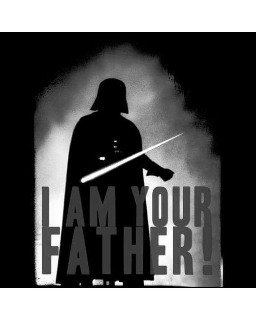 8533c0b0 ... Star Wars - Black Darth Vader I Am Your Father Silhouette Sweatshirt  for Men - Lyst ...