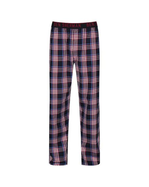 Ben Sherman - Red Blake Check Lounge Pants - Lyst