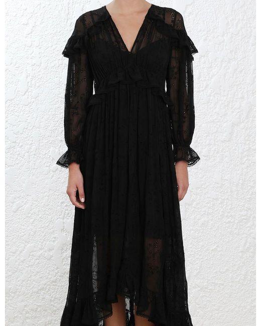 Lovelorn Cape silk dress Zimmermann 2018 Unisex Sale Online UfzbOApYe