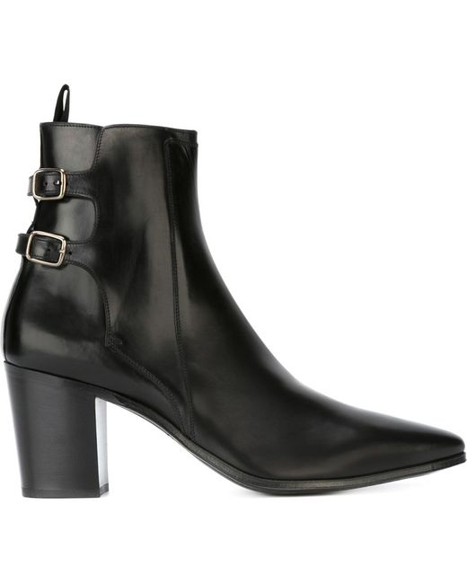 Saint Laurent French 85 Boots In Black For Men