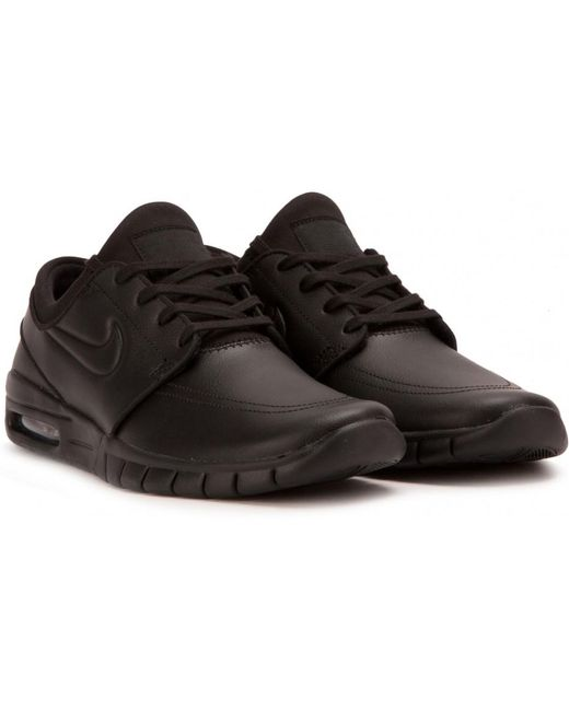 Nike Men's Gray Stefan Janoski Max Leather