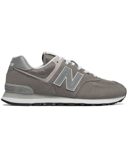 New Balance Gray Women's Classic 574 Suede Lace Up Sneakers
