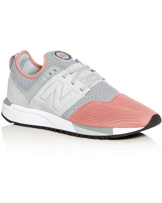 New Balance Red Men's 999 Classic Mixed Media Lace Up Sneakers