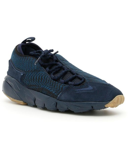 Nike Men's Gray Air Footscape Woven Nm Sneakers