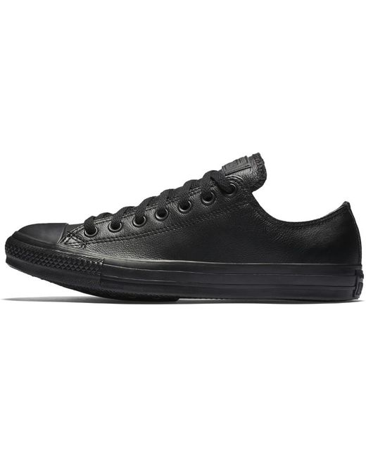 Converse Men's Black All Star Low-top Leather Trainers