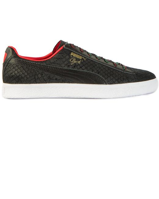 PUMA Men's Clyde Gcc High Risk Red/ Black