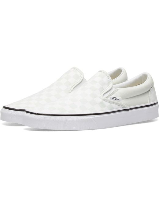 Vans Men's Yellow Classic Slip On Checkerboard