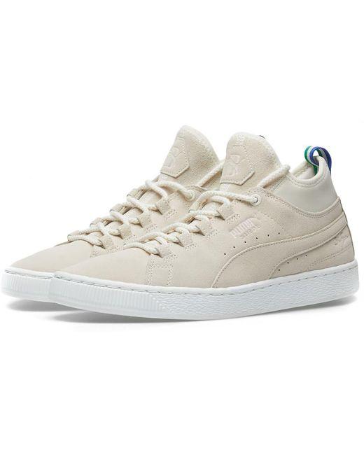 PUMA Men's White Mid Big Sean Sneakers