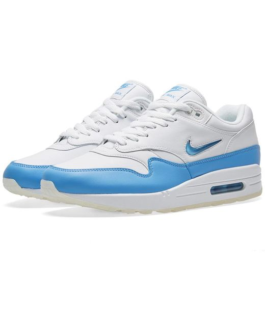 Nike Men's White Air Max 1 Royal Se