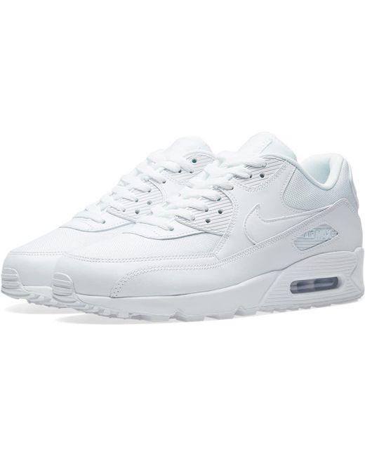 Nike Men's White Air Max 90 Leather