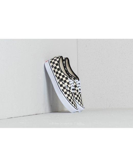 Vans Men's White Ambrosia Authentic Checkerboard Trainers