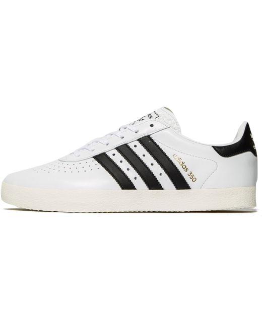 adidas Originals Men's White 350 Leather