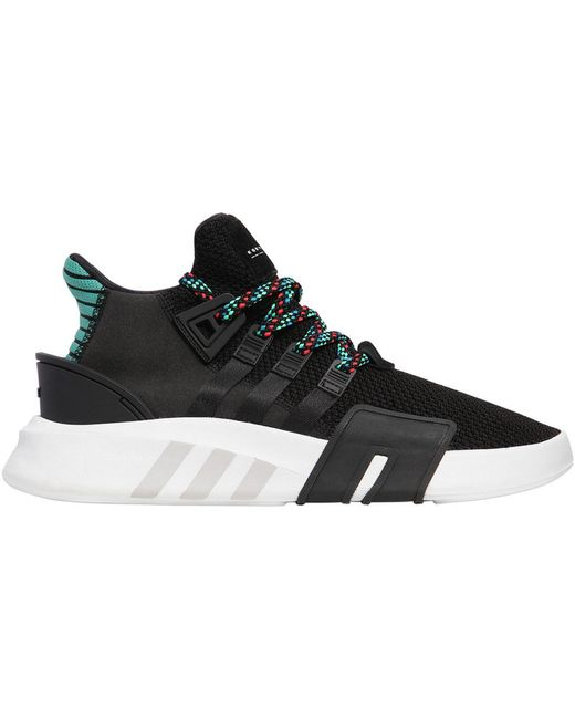 adidas Originals Men's Black Eqt Support Mid Adv Primeknit Sneakers
