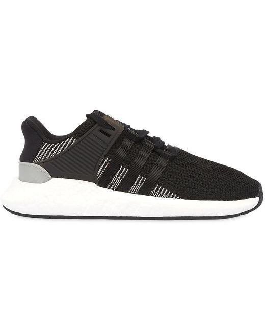 adidas Originals Men's Black Eqt Support 93/17 Sneakers