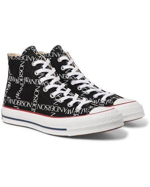 Converse Men's Red + Jw Anderson 1970s Chuck Taylor All Star Logo-printed Canvas High-top Sneakers