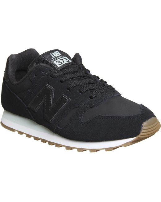 New Balance Men's Black 574 Suede Trainers
