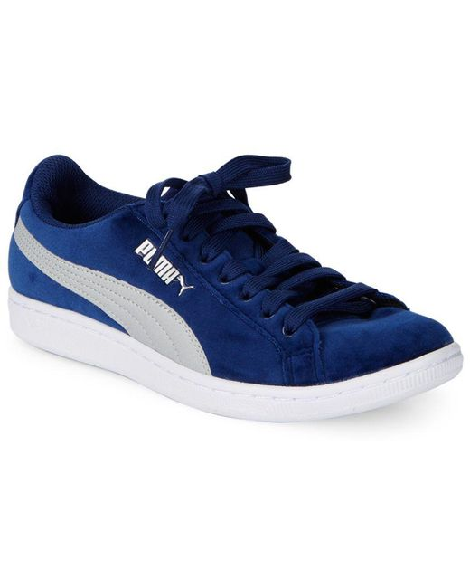 PUMA Men's Green Round Toe Lace-up Sneakers