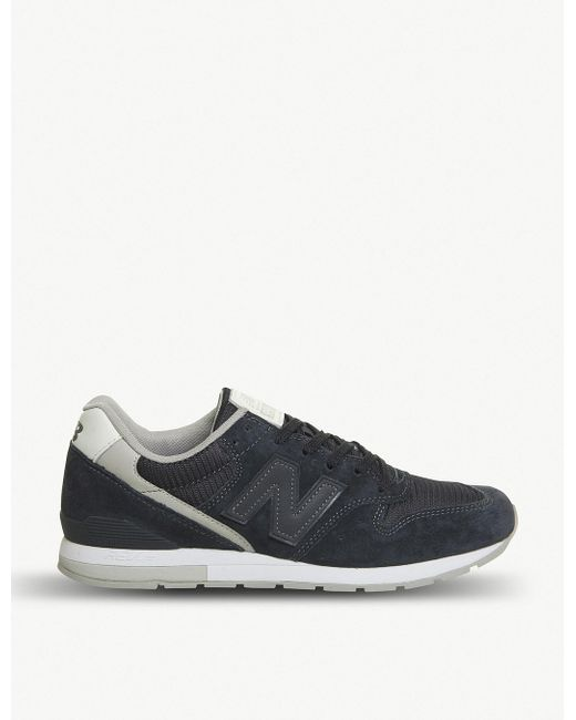 New Balance Men's Gray 996 Suede And Mesh Trainers
