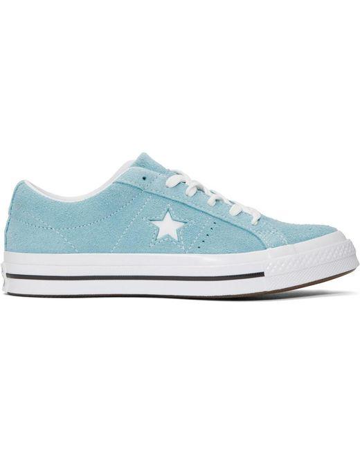 Converse Men's Black Suede Vintage One Star Sneakers
