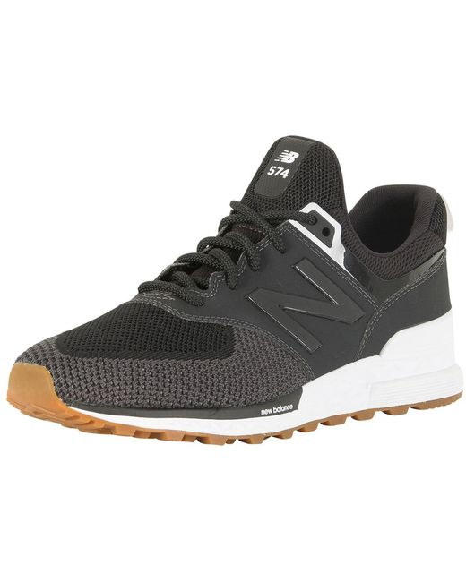 New Balance Men's Black/magnet 840 Suede Trainers