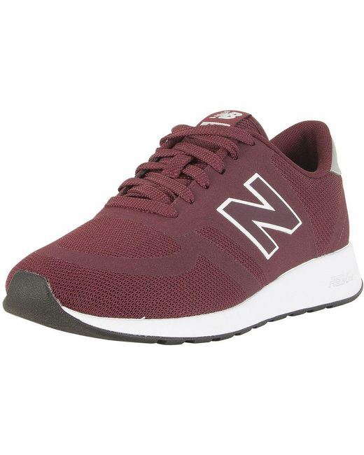 New Balance Men's Purple Burgundy/silver 373 Suede Trainers