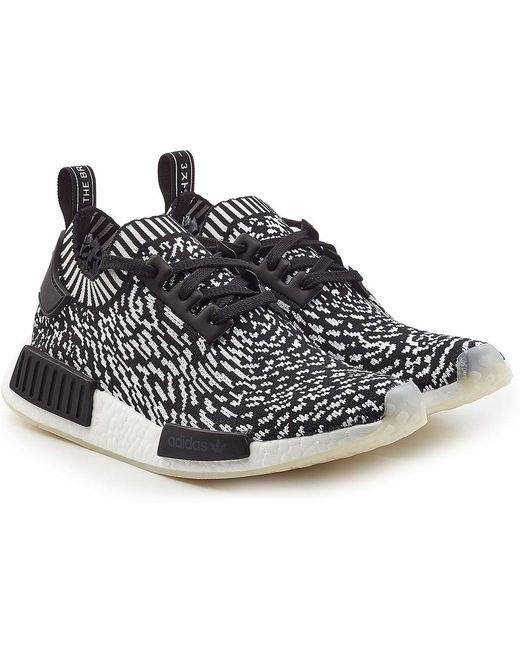 adidas Originals Men's Black Nmd R2 Primeknit Sneakers