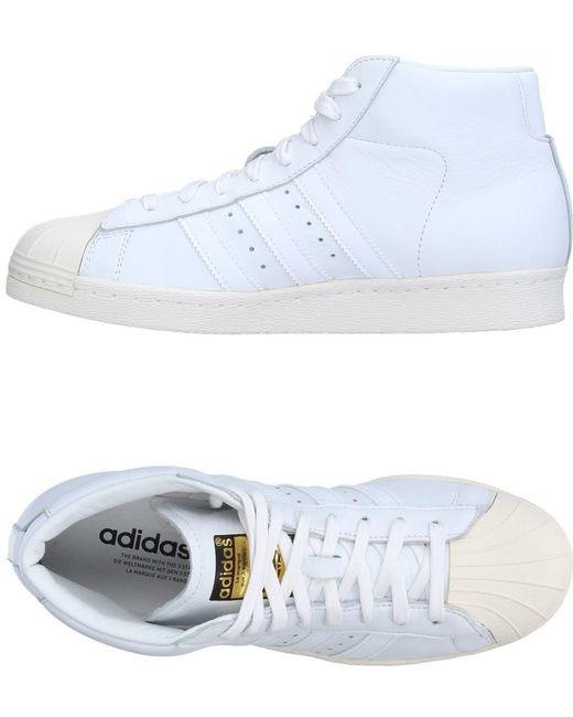 adidas Originals Men's White High-tops & Sneakers