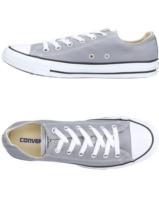 Converse Men's Gray Low-tops & Sneakers