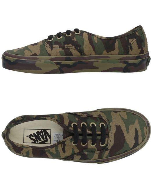 Vans Men's Green Low-tops & Sneakers
