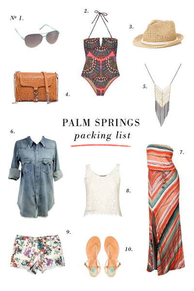PALM SPRINGS // Packing List