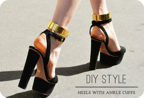 DIY Style | Heels with Ankle Cuffs