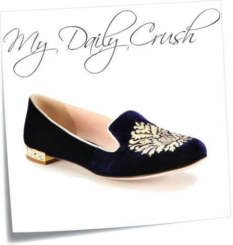 {my daily crush} Miu Miu Velvet Jewel Smoking Slippers