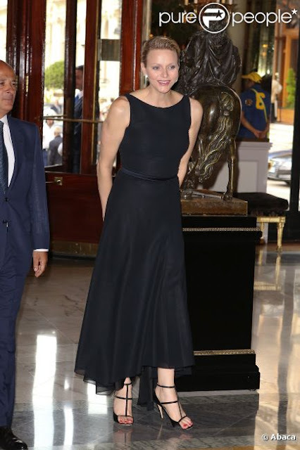 Princess Charlene at a graduation ceremony of the International School of Monaco (ISM) in Monte Carlo