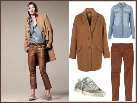 LOOK OF THE DAY: CAMEL AND BLUE