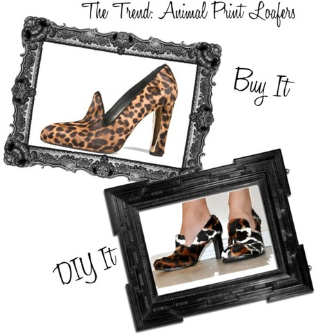 Buy It, DIY It: Animal Print Loafers & Leather Peplums